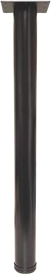 "28"" Tall Office & Desk Height Adjustable Table Leg - Black Textured (Single Leg) - from TableLegsOnline"