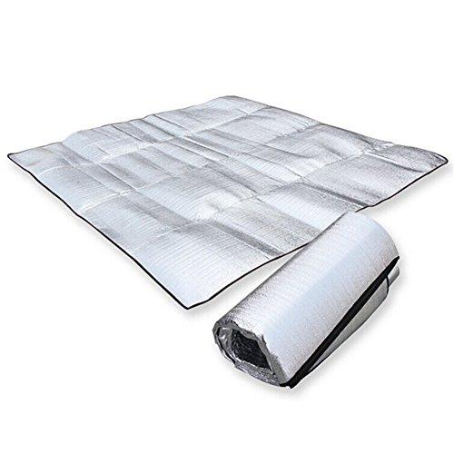 MMdex Waterproof Aluminum Foil EVA Sleeping Mattress Mat Pad for Outdoor Camping Hiking Travel Picnic 12 m/39.478.7 Inch -