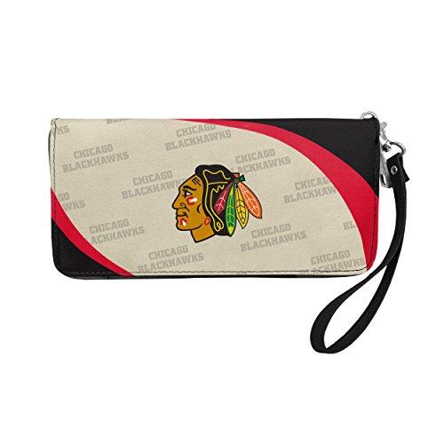 NHL Chicago Blackhawks Curve Zip Organizer Wallet