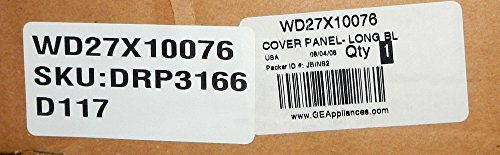 Ge Black Electric Dishwasher (GE WD27X10076 Dishwasher Cover Front Long Black)