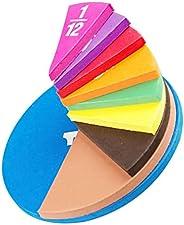 iplusmile Magnetic Fraction Tiles Rainbow Fraction Circles Math Manipulatives Preschool Elementary School Educ