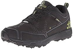 Icebug Men's DTS2 GTX BUGrip Studded Traction Running Shoe, Black/Charcoal, 8 M US