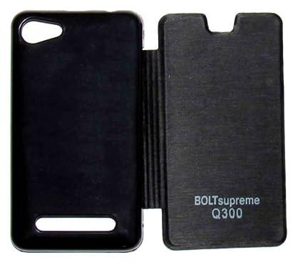 big sale e3cc5 b915c Flip Cover For Micromax Bolt Supreme Q300 - Black: Amazon.in ...