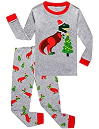 Truck Little Boys Kids Pajamas Sets 100% Cotton Pjs Toddler