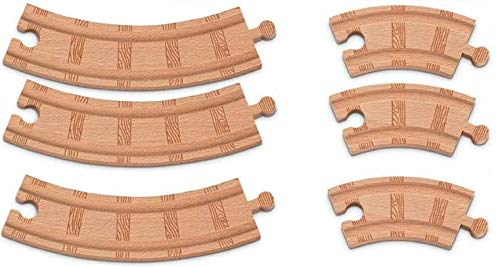 Thomas Wooden 6 PC Curved Track Set Train Track Pack Loose