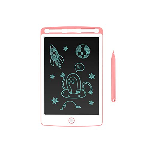 LIUFS Children's Toys Color LCD Tablet Educational Toys Electronic Painting Board (Color : Cherry Powder, Size : 8.5 inches) -