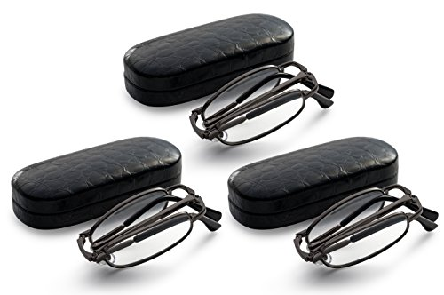 gunmetal-3-pack-folding-reading-glasses-extra-clear-vision-includes-case-cleaning-cloth-and-cord-175
