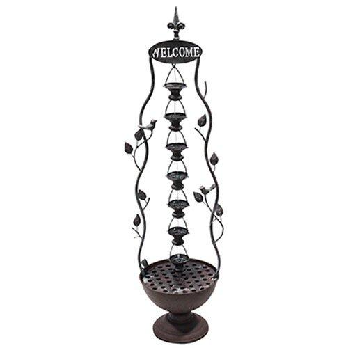 Metal 7 Hanging Cup Tier Layered Floor Fountain MAZ256