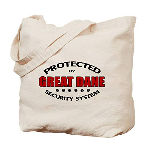 CafePress Great Dane Security Natural Canvas Tote Bag, Cloth Shopping ()