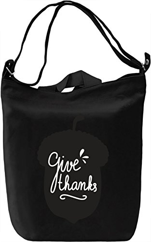 Give thanks Borsa Giornaliera Canvas Canvas Day Bag| 100% Premium Cotton Canvas| DTG Printing|