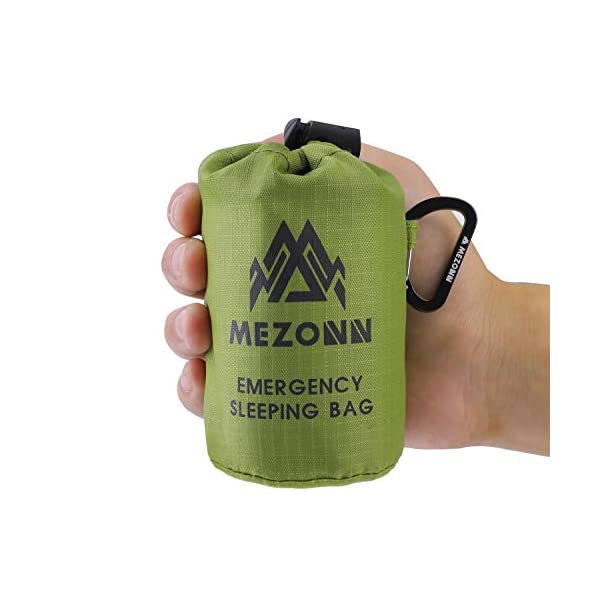 Mezonn-Emergency-Sleeping-Bag-Survival-Bivy-Sack-Use-as-Emergency-Blanket-Lightweight-Sleeping-Bag-Survival-Gear-for-Outdoor-Hiking-Camping-Keep-Warm-After-Earthquakes-Hurricanes-and-Other-disasters