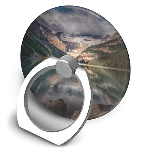 Round Finger Ring Cell Phone Holder Mountains Scenery 360 Degree Rotating Stand Grip Mounts]()