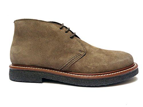 ANTICA CUOIERIA - Zapatos de cordones de ante para hombre gris TóRTOLA 44