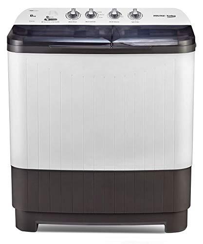Voltas Beko 8 kg Semi-Automatic Top Loading Washing Machine (WTT80DGRT, Gray) 2020
