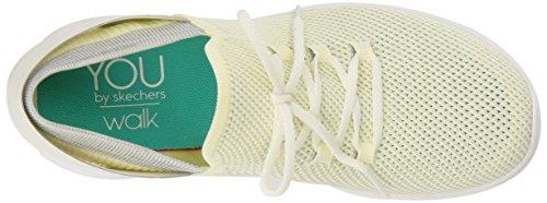 Skechers Ladies You-spirit Slip On Sneaker, Blu Navy Giallo