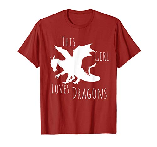 Cute Girls Clothing - This Girl Loves Dragons Fun T ()