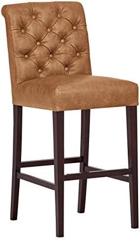 Amazon Brand Stone Beam Carson Tufted Leather Kitchen Counter Bar Stool