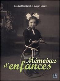 Mémoires d'enfances par Jacques Gimard