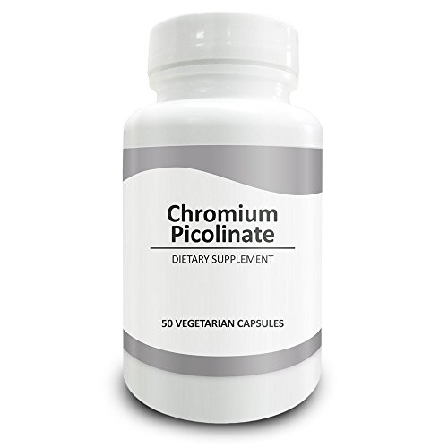 Pure Science Chromium Picolinate 500mcg – Maintain Healthy Blood Sugar and Cholesterol Levels - 50 Vegetarian Chromium Picolinate Capsules