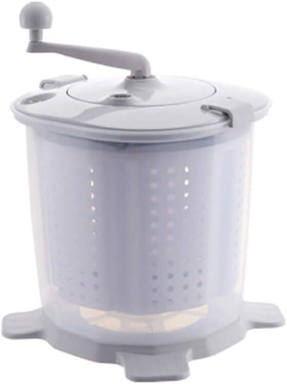CXD Lavadora Mini Eco portátil, Ropa Manual Lavadora no eléctrico y Secadora de Ropa fácil de Usar para los campistas Que acampan Adecuado,Gris