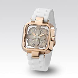"Zerone Crossover Sasu ""UNTITLED"" White IP Rose Gold Analogue Watch"