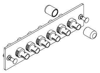 616MMST - OCC 6-Port ST Fiber Optic Adapter Plate, Multi-mode, Composite Sleeve