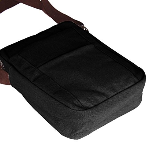 Tela Bandolera negro negro Bolso de Hombre de Malloom para Lona 5tRwqOUx