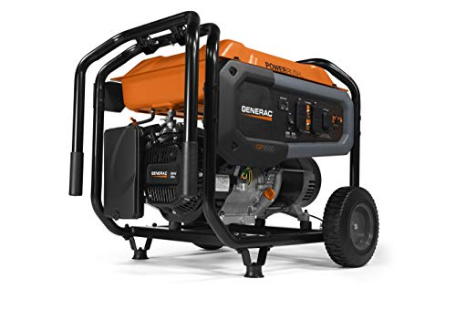 Generac 7690 GP6500 Portable Generator, Orange, Bl