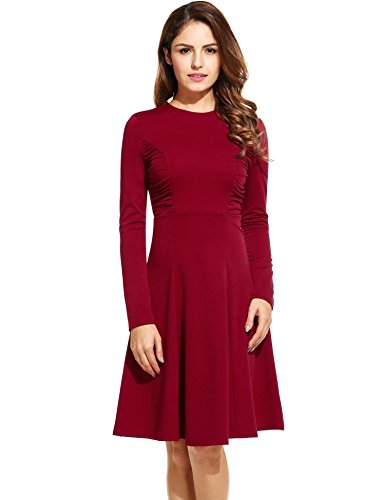 ANGVNS Womens Office Sleeve Ruched