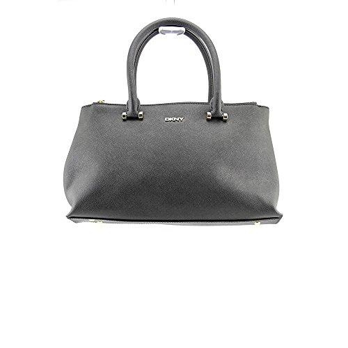 DKNY Bryant Park-Saffiano Womens Black Purse Leather Satchel