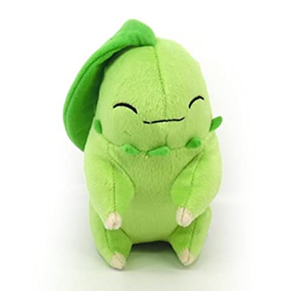 TOMY Pokemon Plush Figure Sleeping Chikorita 16 cm Peluches