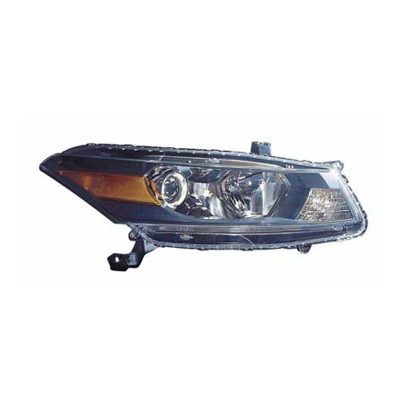 Side Headlight Coupe - Fits Honda Accord Coupe 2011-2012 Headlight Assembly Passenger Side (CAPA Certified) HO2503141C