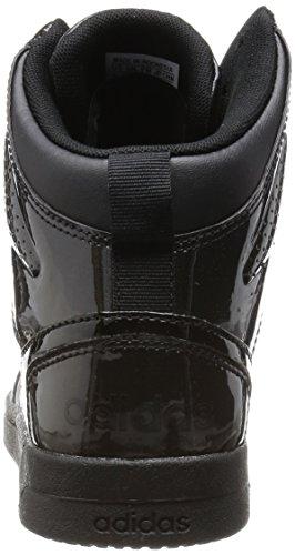 adidas Hoops Team Mid W, Zapatillas de Deporte para Mujer Negro (Negbas / Negbas / Negbas)