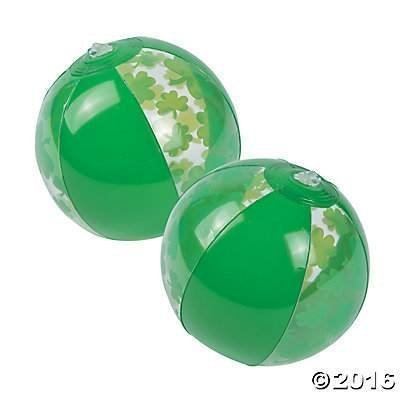 Ball Shamrock Beach (Dozen Inflatable Mini Shamrock Beach Balls)