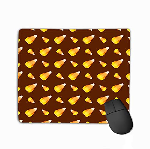 Mouse Pad Halloween Candy Corn Holiday Horror Wallpaper c Cartoon Spooky Autumn Decoration Vintage Rectangle Rubber Mousepad 11.81 X 9.84 -