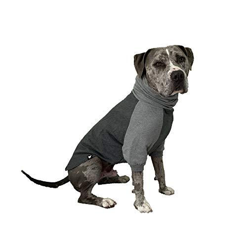 Tooth & Honey Dog Sweater/Pitbull/Large/Medium/X Large Dog Sweater Dog Sweatshirt/Dark Grey& Grey