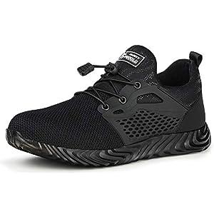 TQGOLD Chaussure de Securité Homme Femmes Chaussures de Travail avec Embout de Protection en Acier Chaussure Taille 35…