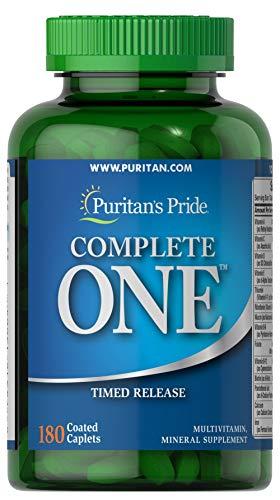 Puritan's Pride Complete One Multivitamin Timed Release-180 Caplets (Best Time Release Multivitamin)