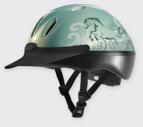 Troxel Spirit Graphic Dreamscape Helmet, Mint, Medium (Helmet Schooling Troxel Spirit)