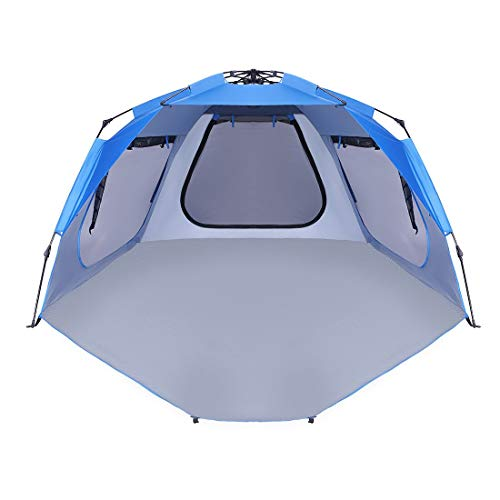 VIVOHOME Easy Setup Beach Tent, Instant Pop up Camping Sun Shelter Canopy with UV Protection and Carry Bag