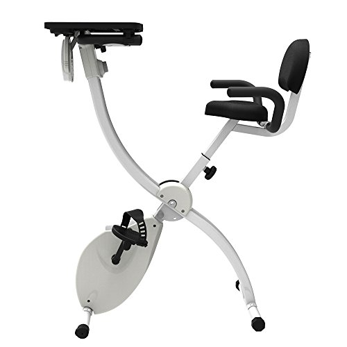 Gymmaster Home Folding Magnetic Exercise Bike with Desk HSM