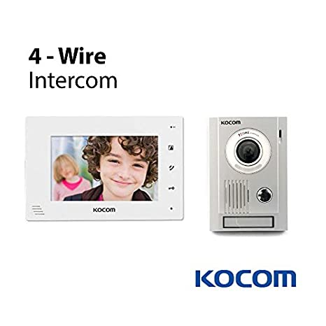41APVA2YToL._SX466_ amazon com kocom kit kc mc30 video door intercom camera & kcv kocom intercom wiring diagram at gsmx.co