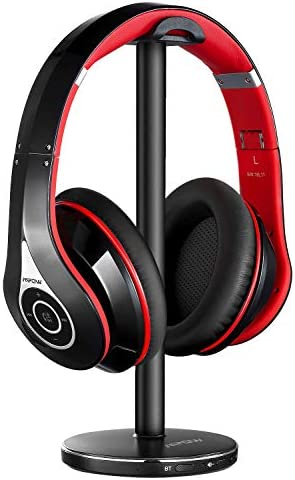 Mpow TV Wireless Headphones Over Ear, Bluetooth 5.0 TV headsets with 100ft Wireless Range, Rechargeable, Foldable, Bluetooth Headphones for TV/PC and AV Receivers