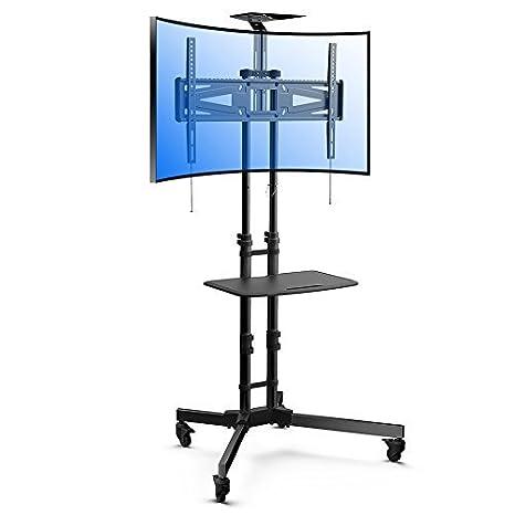 Loctek - Soporte universal con ruedas carrito de TV LCD Monitor Soporte w/DVD de plástico estante: Amazon.es: Oficina y papelería