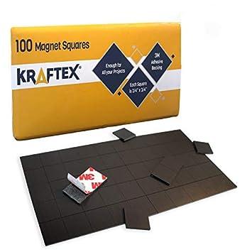 Cuadrados magnéticos: 100 pzas con imanes autoadhesivos con ...