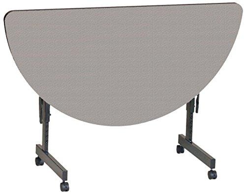 Half Round Table Top Folding (Correll FT2448MR-15 EconoLine Flip Top Table, 24