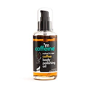 mCaffeine Naked & Raw Coffee Body Polishing Oil | Nourishing | Olive Oil, Vitamin E | All Skin | Mineral Oil Free | 100…