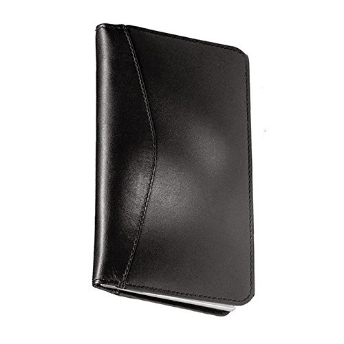 (Winn International Harness Cowhide Leather 4 High Business Card File in Black)
