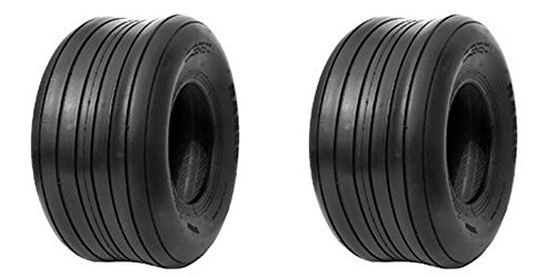 LOT OF TWO (2 15X6.00-6 15x6.00x6 6 ply Rated Tubeless Rib Tires HEAVY DUTY ()