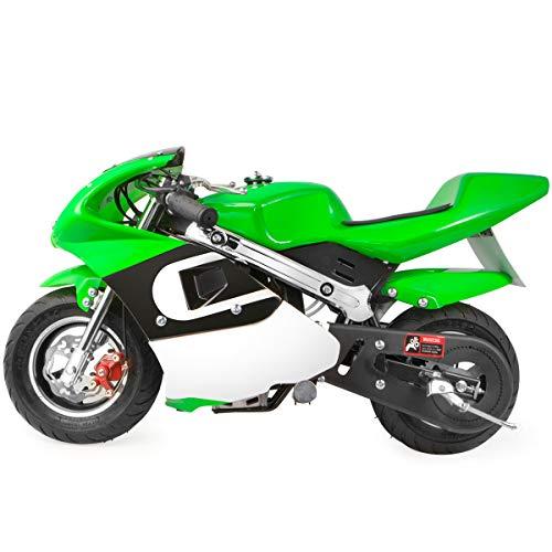XtremepowerUS Mini Gas Pocket Motorcycle Bike 4-Stroke EPA Engine Motor Pocket Padded - Friday Toys Black Bikes Kids